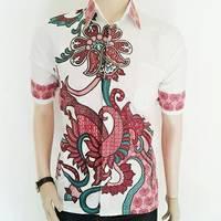 Kemeja Style Modern Merah