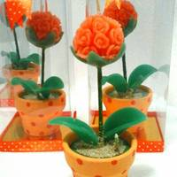 Lilin Flower Ball Orange